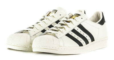 low priced 1ac77 ffe41 Adidas Originals Superstar 80s DLX Trainers Men s Leather Shoes - Vintage  White