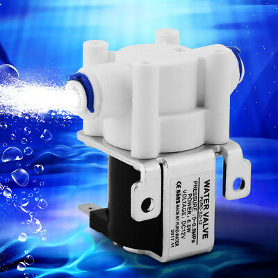 """DC 12V 1/4"""" Plastic Electric Solenoid Valve Magnetic Water Air Normally Close"""