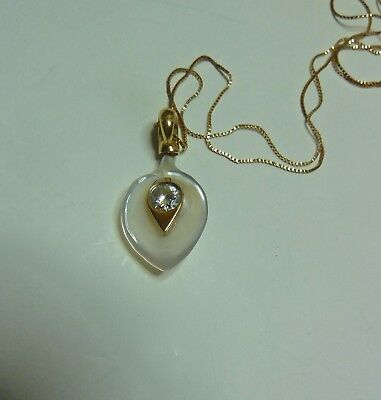 C&c Moissanite & Mother Of Pearl Calla Lily 18Ct Yellow Gold Pendant No Chain