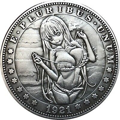 Hobo Nickel  1921-D USA Morgan Dollar Bad Girl COIN