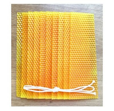 Beeswax Candle Making Kit, 10 Yellow Orange Dappled Beeswax Sheets