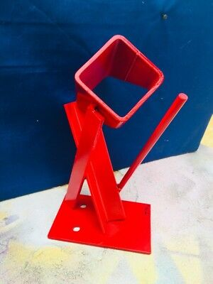 Post Modern Abstract Welded Steel Bright Red Table Sculpture Signed By Artist