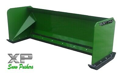 6' John Deere standard snow pusher box LOCAL PICK UP skid steer loader tractor