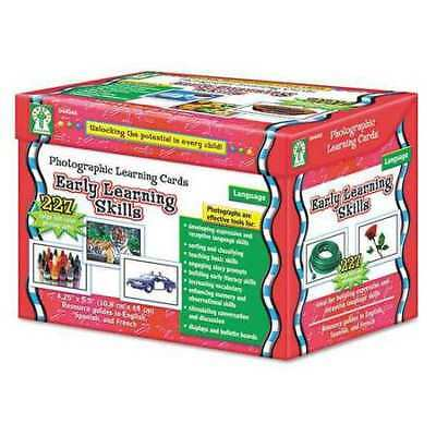 CARSON-DELLOSA PUBLISHING D44046 Early Learning Skill Cards,K-12