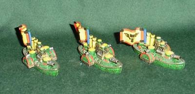 Rare OOP Citadel GW Man O' War metal painted Dwarf Ironclad Squadron of 3 models
