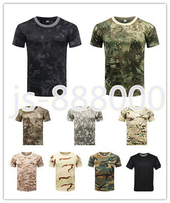 Men's Outdoor Airsoft Tactical Military Quick Drying T-shirt Short Sleeve Casual