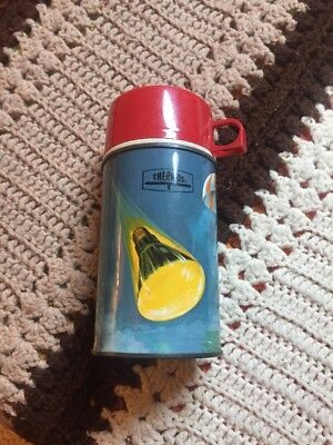 """Original 1963 Lunchbox Thermos-Space Graphics-6 1/2"""""""