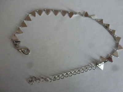 bracelet de cheville triangles 27.2 cm