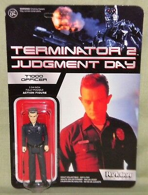 T1000 OFFICER ReAction Super 7 TERMINATOR 2 Retro Action Figure Funko