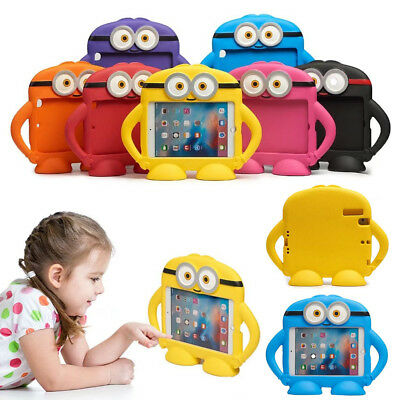 Cartoon Kids EVA Shockproof Handle Stand Case Cover For iPad 5 6 Air / Mini /Pro