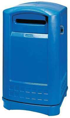 50 gal. Recycling Container Rectangular, Blue Plastic RUBBERMAID FG396973BLUE