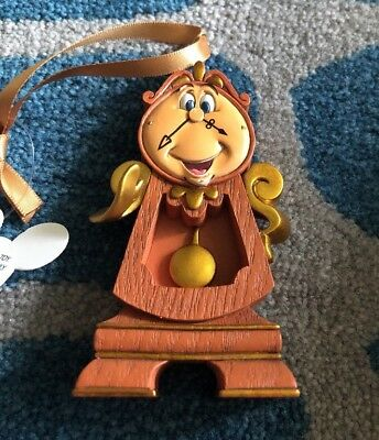 Disney Parks Beauty and the Beast Cogsworth Christmas Ornament New  2017