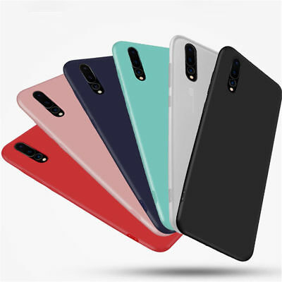For Huawei P20 Lite Pro Smart Soft Ultra Slim Silicone TPU Matte Back Case Cover