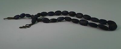 Large Ancient Carved Lapis Bead Necklace - No Reserve 01212