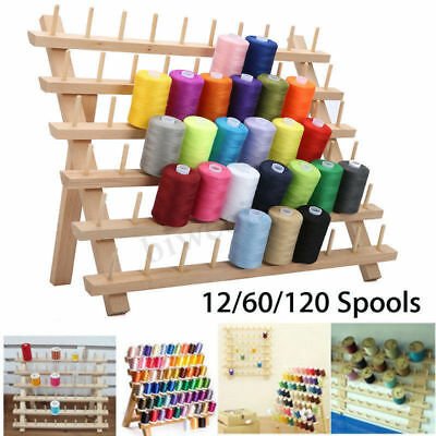 12/60/120 Spools Thread Rack Sewing Embroidery Stand Holder Organizer Foldable
