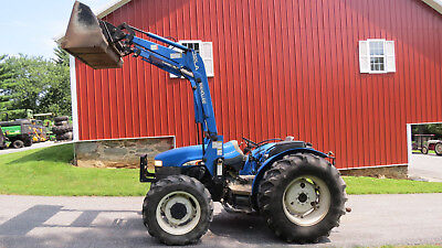 2004 New Holland Tn65 4X4 Utility Farm Tractor W/ Loader 65Hp Left Hand Reverser