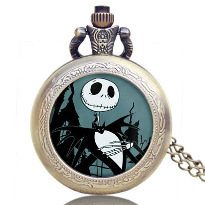Retro Jack Skellington Quartz Pocket Watch The Nightmare Before Christmas Gift