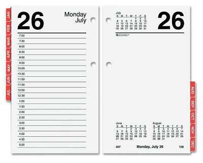 3-1/2x6 Daily Desk Calendar Refill, White AT-A-GLANCE AAGE717T50