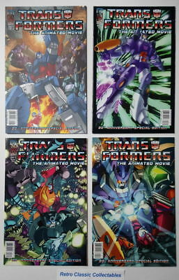 Transformers The Animated Movie comics #1 - 4 - IDW - 20th Anniversary SE- 2006
