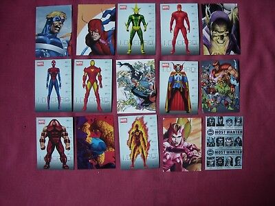 Marvel Heroes Ultimate Sticker Collection Preziosi  X36/120 PART SET + Extras VF