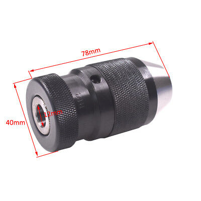 1mm-10mm Precision-Keyless Drill Chuck With B12 Taper For Boring Lathe