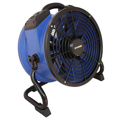 XPOWER X-35AR 1/4 HP 1720CFM Heat Resistant Motor Axial Fan Air Mover w Outlet