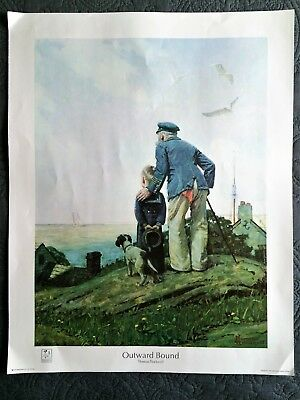 Norman Rockwell Set of Five Large Lithograph Prints 'Outward Bound'