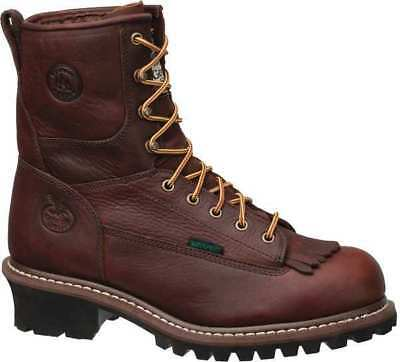 Work Boots,Steel,Mens,Brown,Size 8-1/2 GEORGIA BOOT G7313-085W