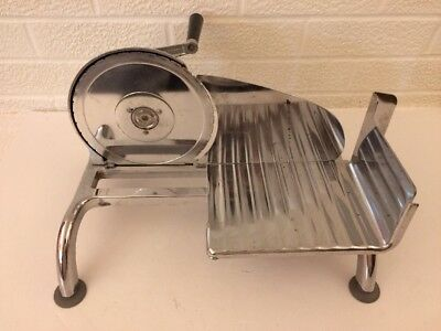 Vintage Chrome Rival Manual Hand Crank Food Cheese Meat Deli Slicer