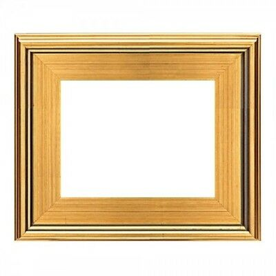 """Eli Frames MODERN PHOTO PICTURE ART PAINTING FRAME PLEIN AIR WOOD GOLD 3"""" WIDE"""