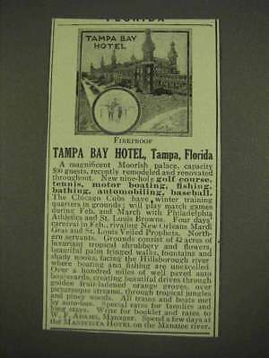 1913 Tampa Bay Hotel Ad - Fireproof