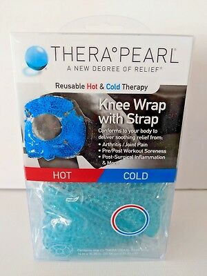 "Thera Pearl Reusable Hot & Cold Therapy Knee Wrap w/ Strap 14"" x 10.25"""
