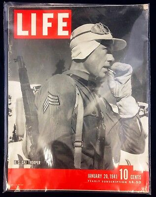 WW II, Life Magazines for 1941, Lot of 3, Very Good or Better Condition