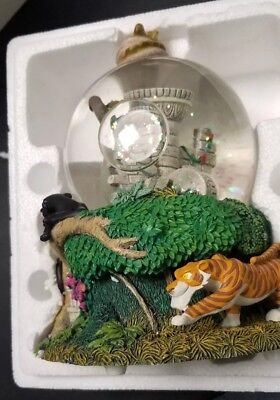 Jungle Book Snow Globe All Characters NEW IN BOX Disney Wind up Tune RARE