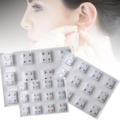 12 paia / 24pcs orecchini penetranti orecchini per le donne Ear Pot Piercing Kit