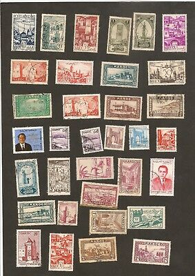 CLASSIC LOT  MOROCCO MAROC Including Mint and Airmail Start  $1.99