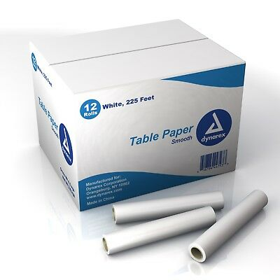 "Headrest Table Paper Smooth -8""x225 ft 12/Cs"