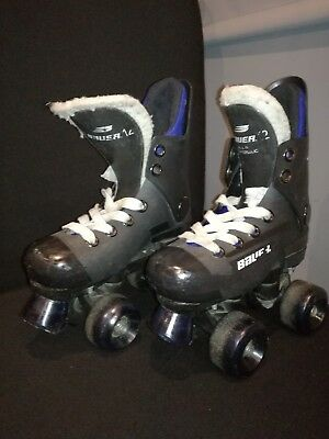 Bauer Turbo Roller Quad Skates Childs Size 12 Very Rare Size Look@@@@