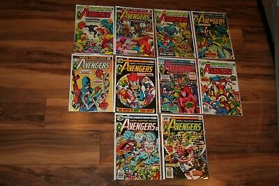 AVENGERS #141-150 1975-76 9.2/9.4 White Pages