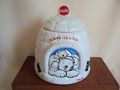 Vintage 2005 Coca Cola Bears Ceramic Cookie Jar