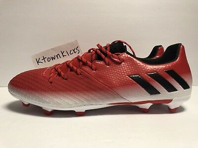 cffaade09 ADIDAS MESSI 16.2 FG Soccer Cleats Red White Black BA9144 Men s Size ...