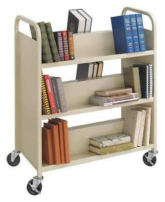 Book Cart,Double-Sided,Steel,Powder Coat