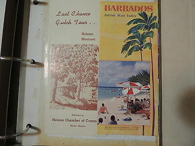 Vintage scrapbook collectible travel brochures 1950's  Old West US Caribbean
