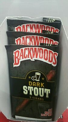 Backwoods  dark stout 5pk fresh in the box  and free shipping