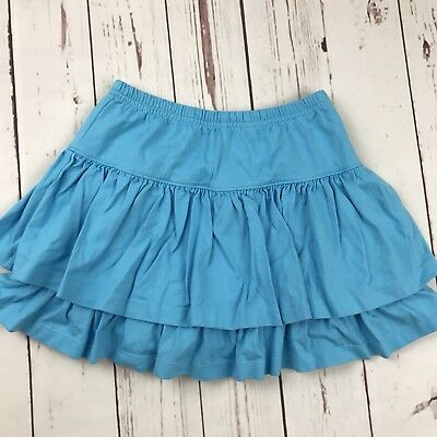 HANNA ANDERSSON TWO TIER SCOOTER SKIRT SKORT Aqua Blue Sz 130