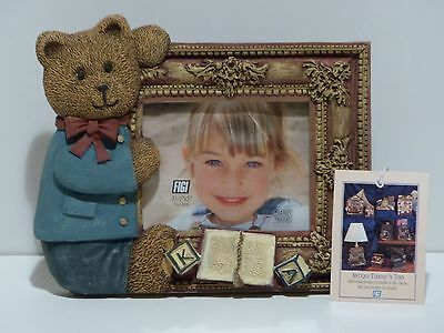 Teddy bear small ceramic picture frame by Figi Graphics