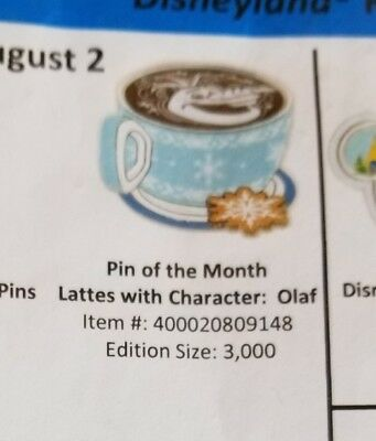 Disney Trading Pin Latte Lattes With Character Olaf - presale 8/2