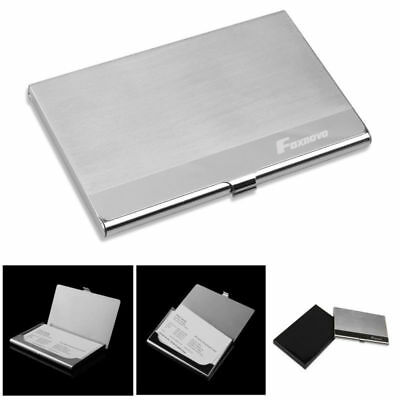Portable Stainless Steel Name Card Business Holder Pocket ID Credit Case Silver