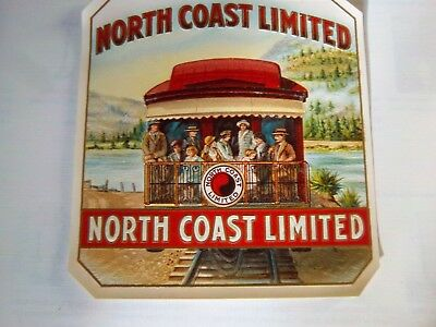 Cigar label North Coast Limited unused embossed new lithograph