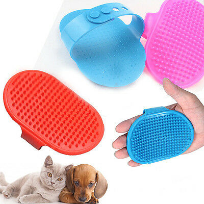 New Pet Dog Cat Bath Brush Comb Rubber Glove Hair Fur Grooming Massaging Kit